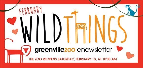Greenville Zoo February Wild Things Newsletter