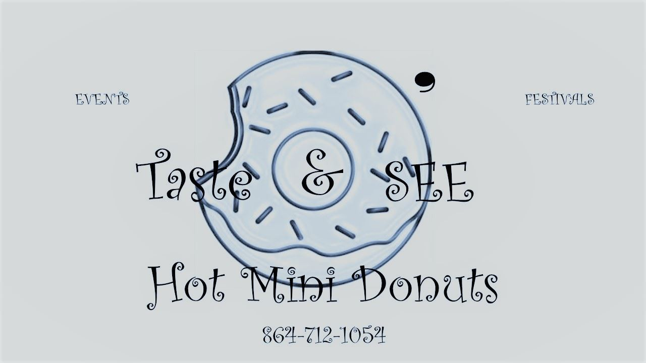 o taste and see hot mini donuts logo