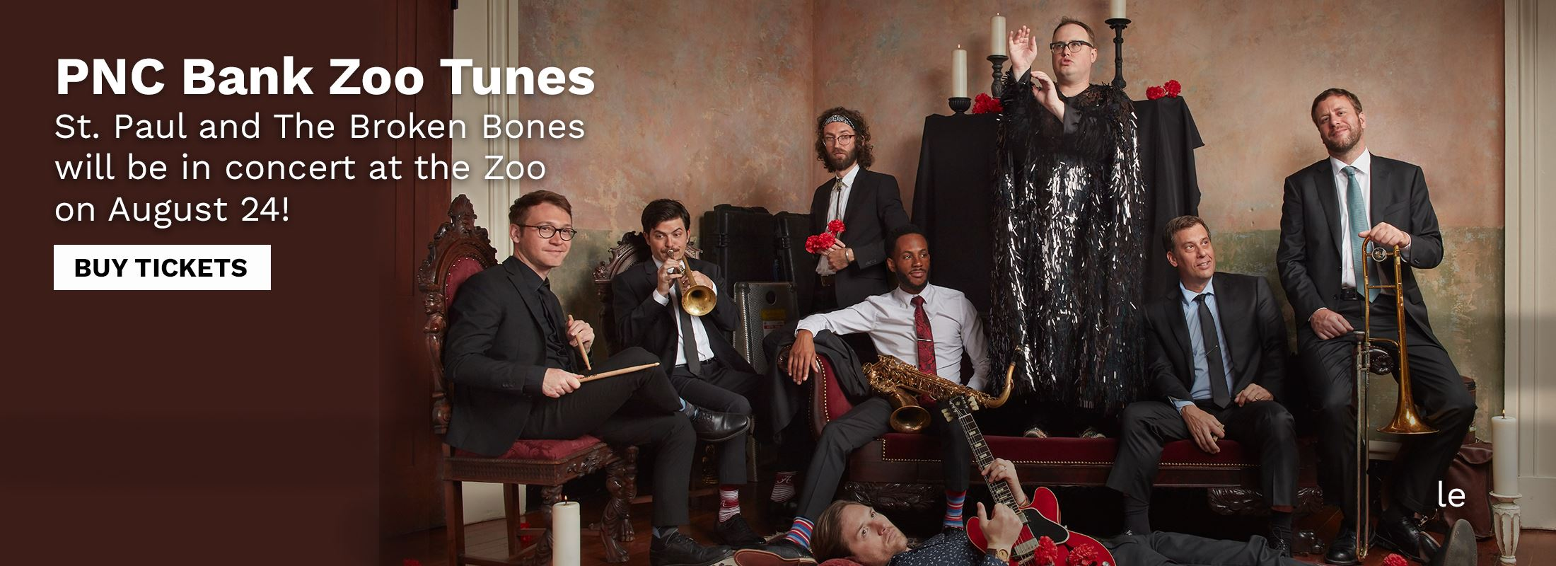 Photo of St. Paul and The Broken Bones. Purchase tickets to hear them at the Zoo on August 24.