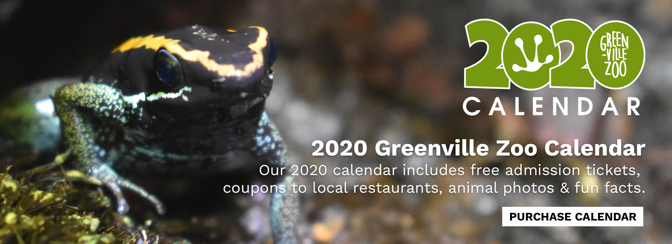 Purchase a 2020 Greenville Zoo Calendar