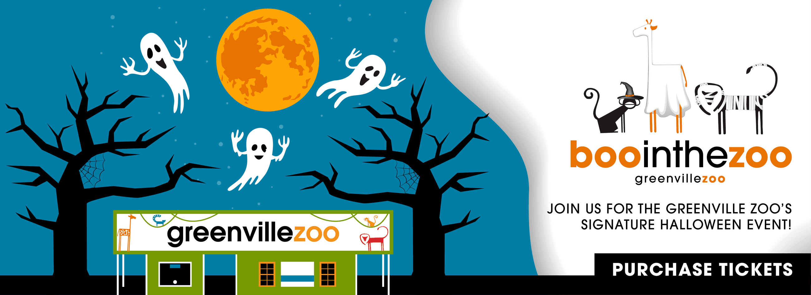 Boo in the Zoo banner