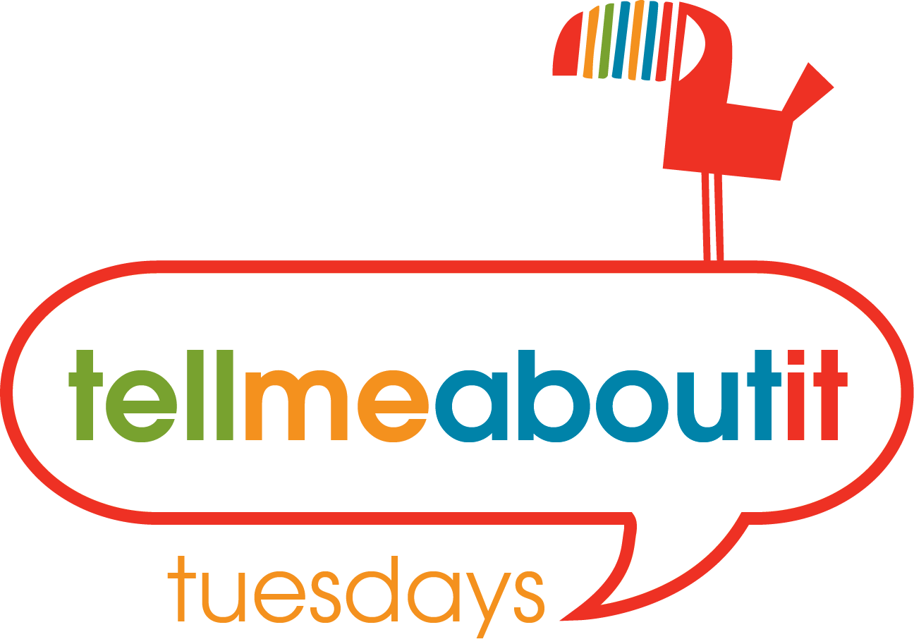 """Tell Me About It Tuesdays"" Logo"
