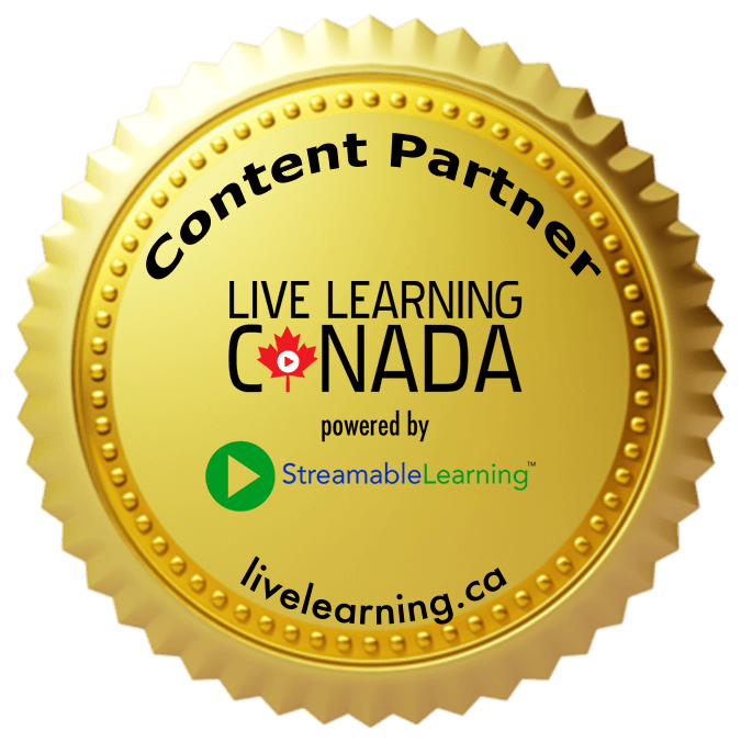 Live Learning Canada (Powered by Streamable Learning) Content Partner Badge